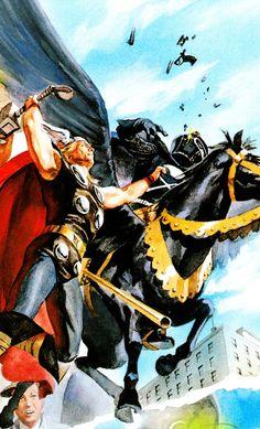 Thor vs Black Knight by Alex Ross