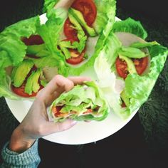 """lettuce leaves #healthy #food  Can get these at Jimmy Johns..called the """"Unwich"""""""