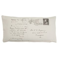 I pinned this Postale Pillow from the French Farmhouse event at Joss and Main!