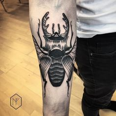 .  his first tattoo, thx a lot for your trust Dominik ✌️☺️ done at @1113tattoo…