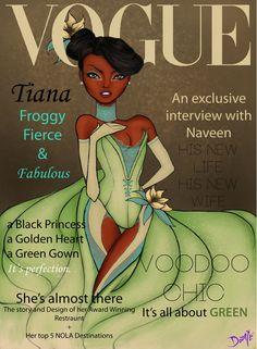 Vogue Disney Darlings - Tiana (Repainted) by ~dantetyler on deviantART