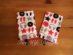 Rocker/DJ Drool/Suck Pads for Soft Structure by FireWifeDesigns