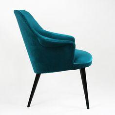polish chair 60. in teal velvet