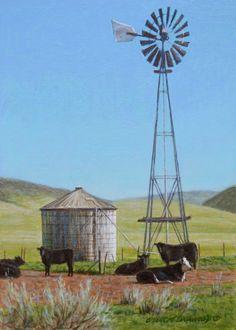 George+Lockwood's+Daily+Paintings:+Cuyama+7x5