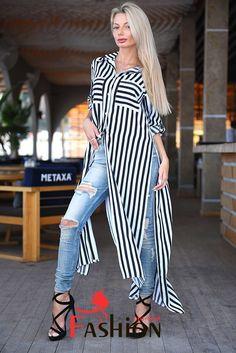 1️⃣1️⃣5️⃣5️⃣руб Платье-рубашка в полоску с длинными регулируемыми рукавами Мод.9078 Размер: S; M; L Производитель: FIRST WOMAN Ткань: Штапель Цвета: черный.