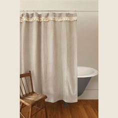 A Wonderful Addition To The Bath Our Downton Village Shower Curtain Combines Classic Ticking