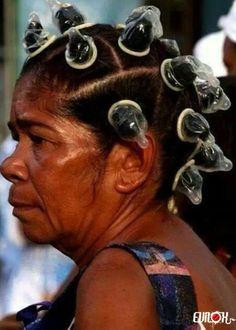 coiffure, preservatif, capote
