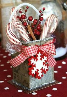 Christmas Gift Idea - Use plastic or glass container, covered in Christmas sheet music.