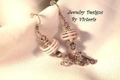 Twirling Sterling Silver  Lampwork EarringsOOAK by fa2756 on Etsy, $16.00