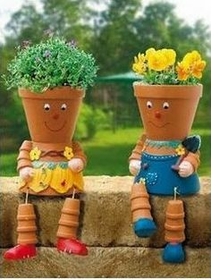 Diy Projects: DIY Clay Pot Flower People