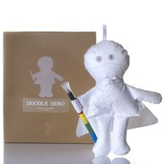 Doodle Hero. A very unique kid's doll that can be scribbled on and can be washed and reused. $48