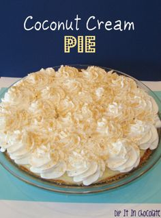 Dip it in Chocolate: Coconut Cream Pie