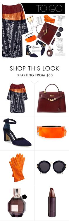 """""""we going out tonight"""" by mor-style ❤ liked on Polyvore featuring By Terry, Tory Burch, Hermès, Manolo Blahnik, Alexis Bittar, Mark & Graham, Karen Walker, Viktor & Rolf and Serge Lutens Beauté"""