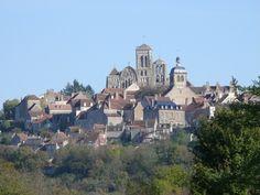 Vista de Vézelay - Francia