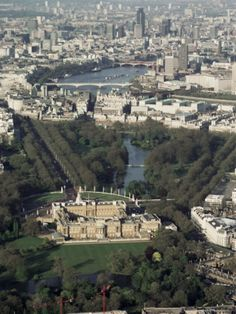 Aerial View Including Buckingham Palace, London