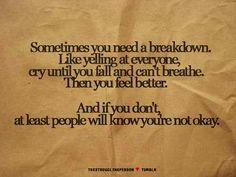 We all need a breakdown