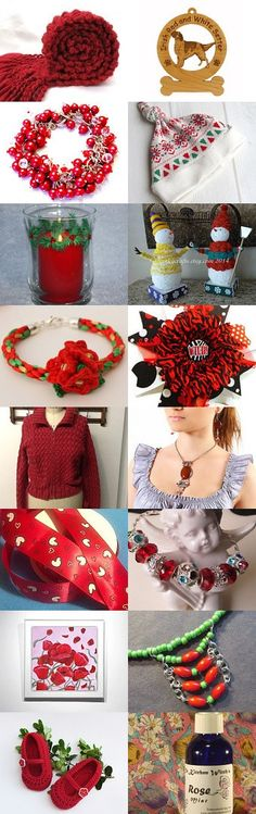 Holly Berry by Linda on Etsy--Pinned with TreasuryPin.com, #HollyBerryRed, #ChristmasTreasury,
