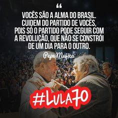Hoje o ex-presidente Lula completa 70 anos! Parabéns, presidente! #Lula70
