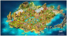 Um Ano de Jogo !!!! Esta é a minha ilha ao fim de um ano de jogo. (Imagem de grande resolução) 05/03/2014