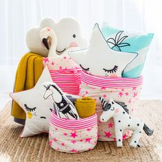 Children's Cushions and Toy Storage, available at Bobby Rabbit.