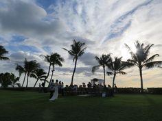 Our couple's beautiful wedding at Paradise Cove. Contact Hawaii Weddings by Tori Rogers www.hawaiianweddings.net