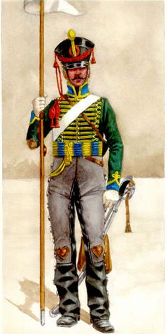 Pavlograd Hussar 1812. The front rank of Russian Hussar squadrons were armed with lances in 1812.