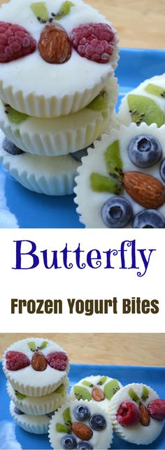Butterfly Frozen Yogurt Bites recipe is incredibly easy to make. All you need is your favorite yogurt and some fruits. Watch our recipe video tutorial to see how to make them!