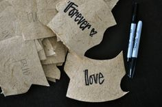 Love letter puzzle - a word a day