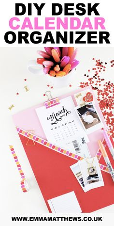 On a mission to get organised? I know the feeling. In today's post, I'm going to show you how you can make a DIY desk calendar. Not only is this DIY dead easy to do but it's also super affordable! #DIY #HomeDecor #Craft #Organization #LifeHacks
