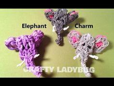 Rainbow Loom ELEPHANT CHARM. Designed and loomed by Crafty Ladybug. Click photo for YouTube tutorial. 04/05/14.