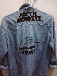 I want this! #arcticmonkeys #denim #jacket #print #music #fashion