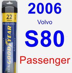 Passenger Wiper Blade for 2006 Volvo S80 - Assurance