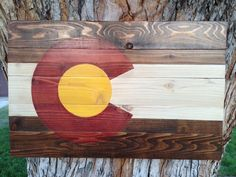 Distressed and Rustic Colorado Flag Wall Hanging Available at https://www.etsy.com/shop/ColoradoJoes