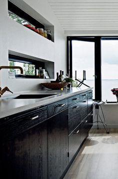10 Diseños de cocinas sin muebles altos