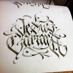 I'm busy and don't have time for posting. Stay calm I'm still alive. #wlk #calligraphy #typography #lettering #type #krakow #katowice #kato #rocknink #kaligrafia #letters #work #poland #Jesus #tattoo #typespire #goodtypography #calligritype #goodtype   von WLK_calli