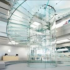 Boston Apple Store Glass Stairs