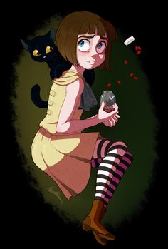 Art by rishidraws — Fran Bow —If you want to find those you love, in darkness you must wake up.