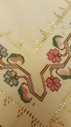 Peaceful Living – Ümran Baş – Join the world of pin Beaded Cross Stitch, Cross Stitch Borders, Cross Stitch Patterns, Embroidery Stitches, Machine Embroidery, Embroidery Designs, Red Heart Patterns, Palestinian Embroidery, Knitting For Kids