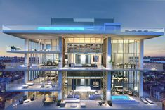 The penthouse at L'Atelier Residences in Miami Beach, which is listing for $33 million #Architects #Interior #interiordesign #interiordesignideas #mansion #house #livingthedream #modern #modernarchitecture #awesome #luxurylifestyle #lifestyle #life #billionaire #millionaire #rich #luxurylife #business #couples #exclusive #gold #money #city #beautiful #places #amazing #photooftheday #inspire #inspirational #penthouse