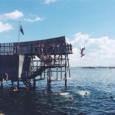 Another great spot to take a quick dip is at Amager Strandpark in #Copenhagen