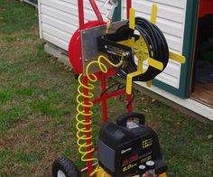 Well since my garage is a mancave/tinkershop, my compressor and hoses are stored at the rear of my property in my shed and it has been cumbersome to m...
