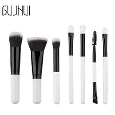 2017 NEW Techniqueing 7 Pcs Makeup Brushes Set Synthetic Hair Make Up Brushes Tools Cosmetic Foundation Brush Kit