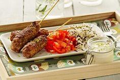 Spicy kjøttboller med grønnsaker og limedressing