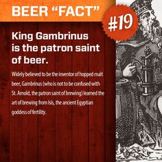 The patron saint of beer!