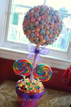 DIY Candy Tree - this would be a fun birthday gift to receive. (hint hint) ;-) I love me some candy! :)