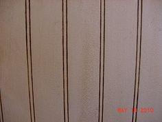 antique glazed beadboard backsplash