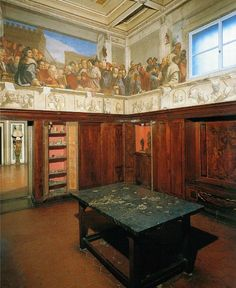 Michelangelo's study in his home in Florence situated in Via Ghibellina, 70