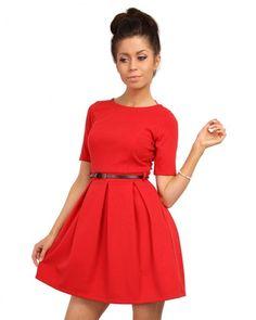 Červené šaty MOE 018