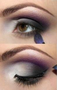 Tutorial: Blue and Purple Eye Makeup Idea!