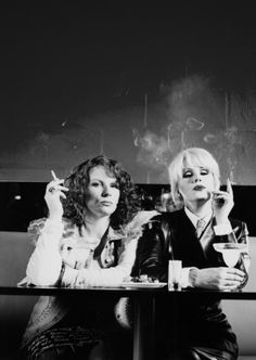Jennifer Saunders & Joanna Lumley... 'Absolutely Fabulous', 1992-2012.  ☚